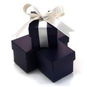 Koyal 2-Piece 50-Pack Square Favor Boxes, NavyBlue