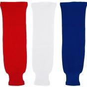 MonkeySports Solid Color Knit Youth Hockey Socks