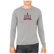 Troy University Trojans Distressed Logo Long Sleeve Shirt Design 2 - Size: MD