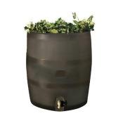 RTS Round Rain Barrel w/ Planter - Mud