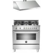 Bertazzoni Stainless Steel 2-Piece Kitchen Package With PRO366GASXLP 36