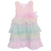 Isobella & Chloe Little Girls Pink Perfectly Posh Empire Waist Dress 2T-6X