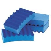 Durable Heavy Duty Scrub Sponges, 4 1/5 X 2 1/2 X 9/10, Blue, 4/pack