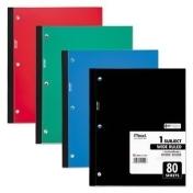 Mead Wireless Neatbook Notebook, Wide Rule, 10 1/2 X 8, White, 80 Sheets