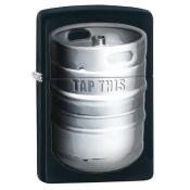 Zippo zippo28665 Zippo Kegger Black Matte Windproof Lighter