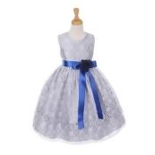 Cinderella Couture Little Girls Tea-Length Flower Corsage Dress 4-6