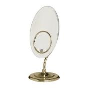 Zadro Mirrors Tri-Optics Vanity Mirror in Brass OVL57