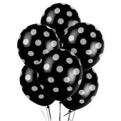 Printed Balloons Round 12' 6/Pkg-Royal Blue Decorative Dots