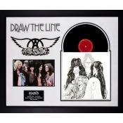 Aerosmith - Draw The Line - Band Signed Album LP Custom Framed