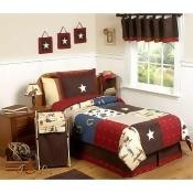 Sweet Jojo Designs Wild West Cowboy Collection Children's Bedding - 4-Piece Twin Set