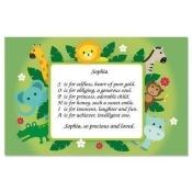 Safari Name Poem Kids' Placemats