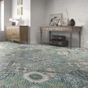 SomerTile 12.75x12.75-inch Clinker Retro Blanco Aubrieta Quarry Floor and Wall Tile (6/Case, 6.77 sqft.)