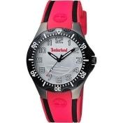 Timberland 潮流美式時尚腕錶-銀x紅/38mm