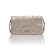 Canyon Quilt Foldover Crossbody Bag - Platinum