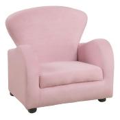 Kid's Sofa Chair - Fuzzy Pink Fabric - EveryRoom