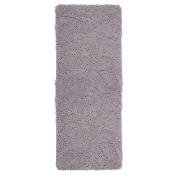 Solid Memory Foam Shag Bath Mat Gray - Yorkshire Home