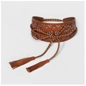 Women's Festival Web Belts - Universal Thread Tan M, Beige