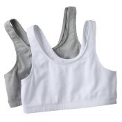 Girls 7-16 SO® 2-pk. Sports Bras, Size: 36, Grey