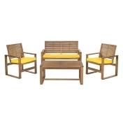 Outdoor Safavieh Ozark 7-pc. Patio Set, Yellow