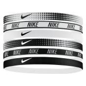 Nike 6-pk. Printed Swoosh Headband Set, Women's, White Black