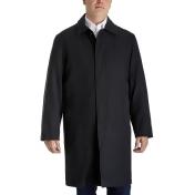 Men's Tower by London Fog Microfiber Rain Jacket, Size: 44 Short, Black