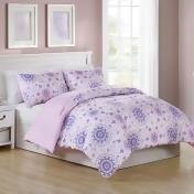 Vcny Home Pretty Dreamer Comforter Set, Purple