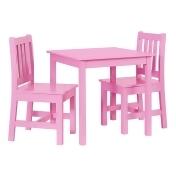 Linon Jaydn Kids Table & Chair 3-piece Set, Pink
