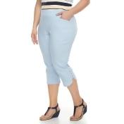 Plus Size Briggs Pull-On Capris, Women's, Size: 24 W, Blue