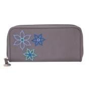 Travelon Rfid Blocking Bouquet Ladies Wallet, Grey