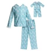 Girls 4-14 Dollie & Me Swan Top & Bottoms Pajama Set & Doll Pajamas, Size: 6, Blue