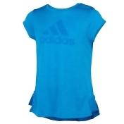 Girls 7-16 adidas Ruffle Hem Tee, Girl's, Size: Large, Brt Blue