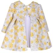 Toddler Girl Bonnie Jean Floral Jacquard Dress & Coat Set, Girl's, Size: 2T, Yellow