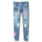 Gap Girls Star Print Jeggings In High Stretch Denim 616 Size 4