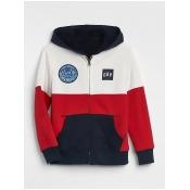 Gap Boys Cozy Logo Hoodie Sweatshirt Modern Red Size XS