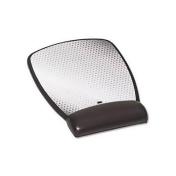 Precise Leatherette Mouse Pad W/standard Wrist Rest, 6-3/4 X 8-3/5, Black