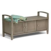 Atlin Designs Entryway Storage Bench in Distressed Gray