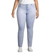 Blue Spice Skinny Fit Jeggings, Womens Plus, Acid, Size 22 Plus