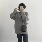 條紋百搭長袖毛衣