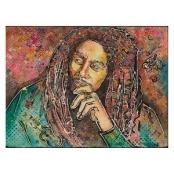 Louis Leonard Art Bob Marley by Sandra Stein Canvas Wall Art