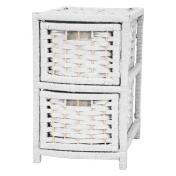 Oriental Furniture Natural Fiber Drawers White