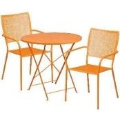Outdoor Flash Furniture Steel Round Folding Patio Bistro Set