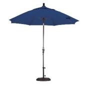California Umbrella 9 ft. Fiberglass Tilt Olefin Market Umbrella Terracotta