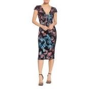 Allison Sequin & Velvet V-Neck Dress