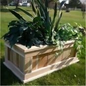 Infinite Premium Rectangular Cedar Planter