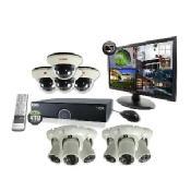 16 Ch. 4TB 960H DVR Surveillance System with 10 1200TVL 100 ft. Night Vision Cameras & 21.5