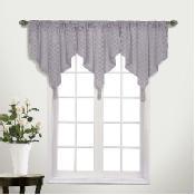 United Curtain Co. Belmont Semi-Sheer Valance - 45