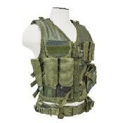NcSTAR Tactical Vest, Larger Size, Woodland Camo (XL to XXL+)