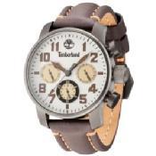Timberland Men's New Market Brown Leather Strap Watch 45x55mm TBL14783JSU07