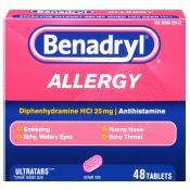 Benadryl Allergy Relief, Ultratab Tablets, 48 ea