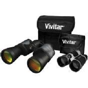Vivitar Value Series 10x50 Porro Prism and 4 x 30 Roof Prism Binocular Set